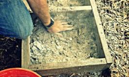 Building a Chicken Dust Bath