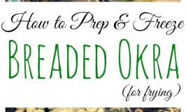 Freezing Breaded Okra for Frying